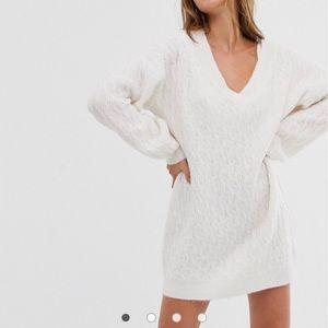 ASOS cream jumper dress